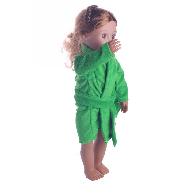 Cute Soft Robe Dolls Robe Fit For 18 inch Our Generation American Girl Doll
