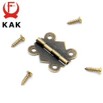 40pcs KAK 20mm x17mm Bronze Gold Silver Mini Butterfly Door Hinges Cabinet Drawer Jewelry Box Hinge For Furniture Hardware