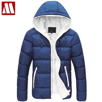 2018 winter hood thicken thermal lovers cotton-padded jacket wadded down jacket outerwear mens hoodie coat 6 colors S~XXXL D082