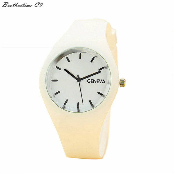 2018 Geneva Watches Women 12 Candy-colored Jelly Silicone Strap Leisure Watch Wrist Watch gift montre femme relogio feminino