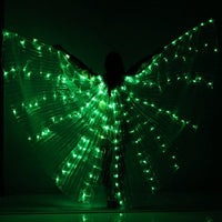 NEW women belly dance lamp props open 360 degrees LED Shining wings girls wings angle of opening dancer props wings stick Bags