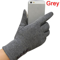2017 Winter Womens 4 Buttons Touch Screen Gloves Sporting Warm Gloves Mittens Mittens Cashmere Femme