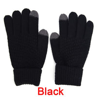 Touch Screen Gloves For Men Women 4 Colors Soft Knitting Winter Gloves Warmer Smartphones For Driving Glove 1Pair