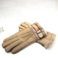 Gloves For Women Mitten Winter Warm Fur Leather Wool Woman Classic Style Clothing Top Quality Accessories Apparel Luxury Brand