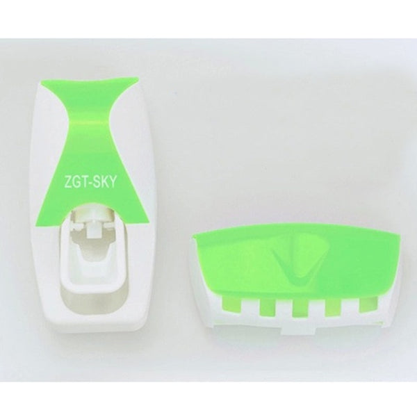 1 Set 5 Colors Automatic Toothpaste Dispenser Set 5 Toothbrush Holder Wall Mount Bathroom Supplies Toiletries