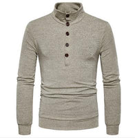 2017 Autumn and winter men's personality color slim collar sweater