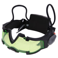 Adjustable Elastic Band Night Vision Goggles Glass Children Protection Glasses Cool Green Lens Eye Shield With LED
