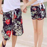 New 2018 Shorts Men Summer Hawaii Beach Board Shorts Flower Printing Boho Couple Wear Causal Leisure Holiday Vacation Clothing