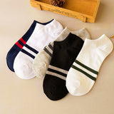 USPS MUQGEW Mens socks 1Pair calcetines Unisex socks Comfortable Stripe Cotton compression socks Slippers Short  Ankle meias