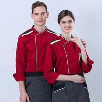 Autumn Winter chef clothing kitchen tool long sleeve Western restaurant uniforms men and women chefs jackets coat free shipping
