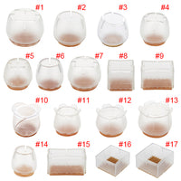 10pcs Silicone Rectangle Square Round Chair Leg Caps Feet Pads Furniture Table Covers Wood Floor Protectors   HG99