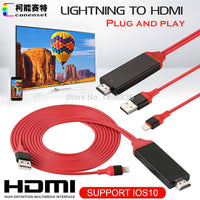 AirPlay 8 pin Lightning to HDMI HDTV AV Cable Adapter for iOS 10 11 iPhone X 5 SE 6S 7 8 Plus iPad Air 2 Pro mini iPod