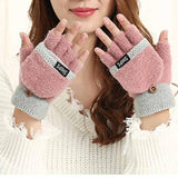 Winter Fashion Women Girl Knitting Wrist Fingerless Hand Winter Knitted Gloves Warmer driving gloves guantes mujer