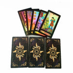 Holographic Tarot Board Game 78 PCS/Set Shine Waite Tarot Cards Game Chinese/English Edition Tarot Board Game For Family/Friends