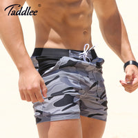 Taddlee Brand Sexy Men's Swimwear Swimsuits Man Plus Big Size XXL Camouflage Basic Swimming Beach Long Board Shorts Boxer Men