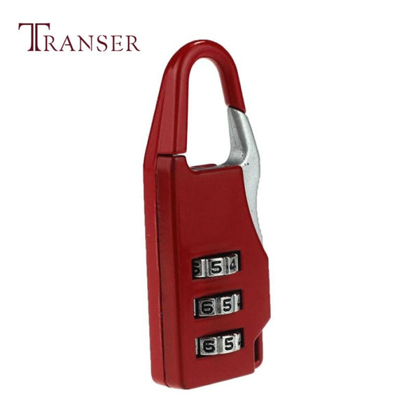 Transer Best Gift Colorful Travel 3 Digit Code Safe Combination Luggage Lock Padlock Suitcase a19