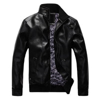 HEE GRAND 2018 Male Fashion Leather Velvet Motorcycle Jacket High Quality Classic Leather Jacket M~5XL MWP459