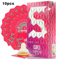 10 Pcs/Lot High Quality Natural Latex Condoms Mingliu Penis Sleeve Condoms Safer Contraception For Men Lubrication Condoms