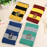Potter Scarf Cosplay Costume Gryffindor Slytherin Ravenclaw Hufflepuff Cotton Scarf for Women/Men/girl/boy Decoration