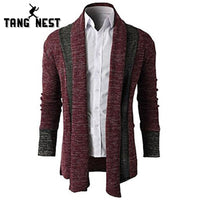 TANGNEST 2018 New Arrival Fashion Design Cardigan Spring Casual Patchwork Men Sweater Comfortable Popular Pull Homme MZM533