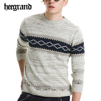 HEE GRAND 2018 Men Fashion Plaid England Style Pullovers Leisure Brief O-neck Sweaters Hombre Jersey  MZM426