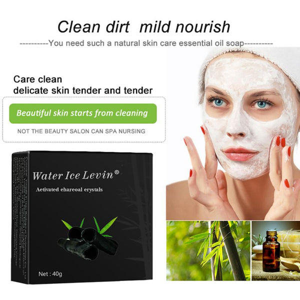 Beauty Skin Whitening Soap Blackhead Remover Acne Treatment Face Wash Hair Care Bath Skin Care Bamboo Charcoal Soap Z974