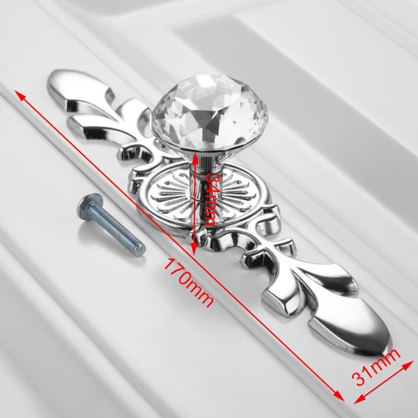 KAK Luxury Diamond Crystal Handles Shoebox Cabinet Handles Closet Door  Drawer Knobs Wardrobe Pulls Pullers With Screws Hardware