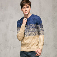 TANGNEST Hot Sale 2018 Fashion Design Casual Men Sweater Slim O-Neck Long-sleeved Sweater Men All-matched Pull Homme MZL604