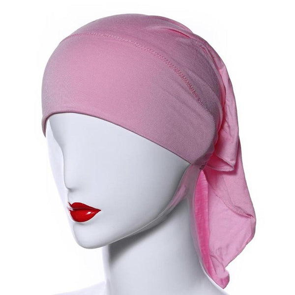 Muslim Women Soft Comfortable Inner Hijab Caps Islamic Underscarf Hats 20 Colors T55