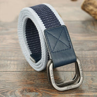 HEE GRAND 2018 New Male Brand Fashion Belt Man Double Ring Buckle Thicken Canvas Belts For Men Patchwork Waistband PYB112