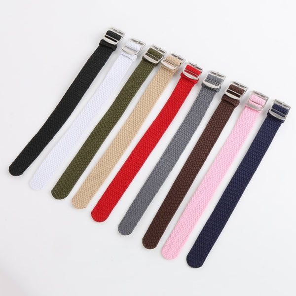 16 18 20 22mm Men Women Casual Watch Band nylon perlon straps weave straps watch strap Watch band