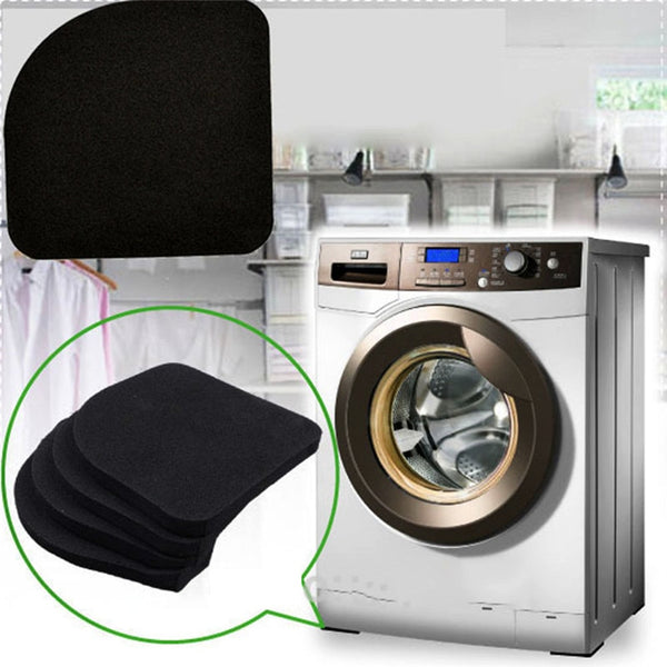 4Pcs Square Refrigerator Mute Mat Washing Machine Anti Vibration Pad Shock Pads