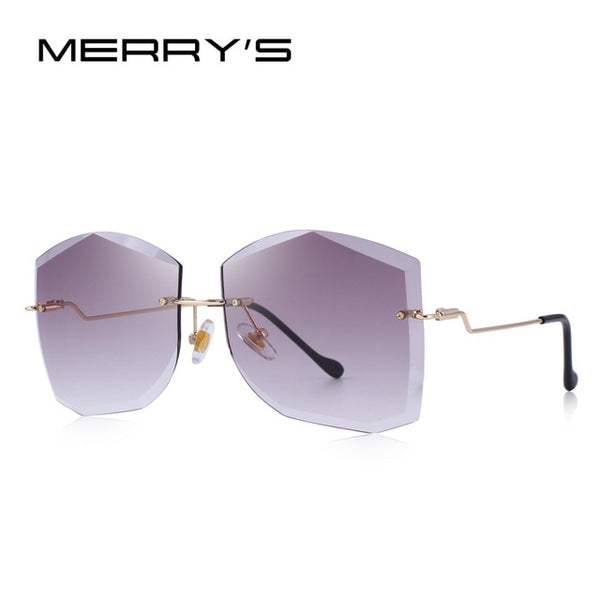 MERRY'S DESIGN Women Classic Rimless Sunglasses Gradient Lens 100% UV Protection S'6280