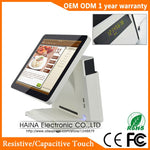 Haina Touch 15 inch All In One Touch Screen True Flat POS System with Customer Display
