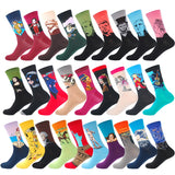 Men's Casual Combed Cotton Socks Napoleon Jesus Mona Lisa Famous Oil Paintings Crew Colorful Funny Winter Happy Socks
