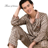 2018  Pijamas Pijama Hombre Mens Silk Pajamas Men's Pajamas 8151