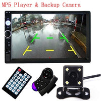 "Podofo 2 din car radio 7"" HD Touch Screen Player MP5 SD/FM/MP4/USB/AUX/Bluetooth Car Audio For Rear View Camera Remote Control"