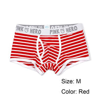 1 PC Hot Sale Men Fashion Striped Underpants Boxer Panties Sexy Comfortable U Convex Stretch Cotton Underwear 5 Colors