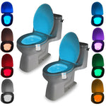 Washingroom Bathroom Motion Bowl Toilet light Activated On/Off Lights Seat Sensor Lamp nightlight seat light
