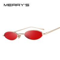 MERRY'S DESIGN Women Fashion Small Oval Sunglasses Red Lense UV400 Protection S'6119