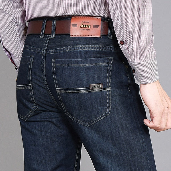Free Shipping 2018 Spring New Arrived Jeans Men Loose Men Cowboy Pants Casual Business Men's Jeans Quality Men Clothes D39