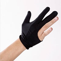 1 PC  Cue Billiard Pool Shooters 3 Fingers Gloves Black for Billiard hot