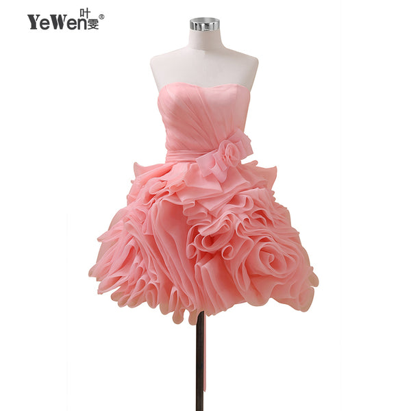 4e4271d6c0 Yewen cocktail dresses 2018 Pink Burgundy Flowers Crysals Formal Party  Cocktail Homecoming Dress Short Mini Prom
