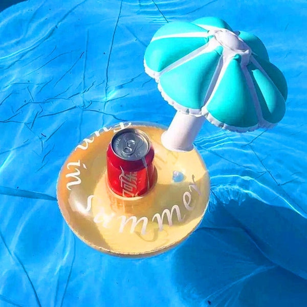 Mini Water Coasters boia Flamingo Floating inflatable cup holder Swimming pool drink float toy cup stand Water
