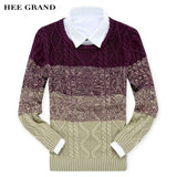 HEE GRAND Men's Sweater 2018 New Arrival Autumn Winter O-Collar Casual Pullovers Masculino M-XXL 4 Colors MZM295