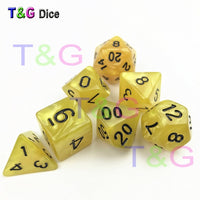 Dados De Rpg 7Pcs/Set Polyhedral  RPG Games Dice with Marble Effect  D4-D20 Multi Sides Dice Pop for  Dnd Board Games