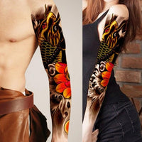1PCS Full Arm Flower Tattoo Sticker Waterproof Temporary Tattoo Sleeve Men Women Body Paint Water Transfer Fake Tatoo Sleeve