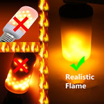 Creative 3 modes+Gravity Sensor Flame Lights E27 E26 E14 LED Flame Effect Fire Light Bulb 7W 9W Flickering Emulation Decor Lamp