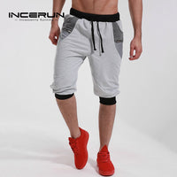 Men's Brand Clothing 2018 Calf Length Bermuda Shorts Casual Joggers Elastic Cuff Short Sweatpants Trouser Tracksuit Gyms-clothes