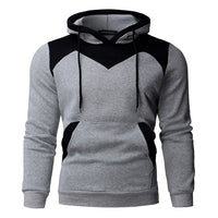 2018 Fleece Hoodies Men Color Stitching Velvet Tracksuit Pullovers Mens Slim Fit Long Sleeve Hooded Sweatshirt Autumn Winter
